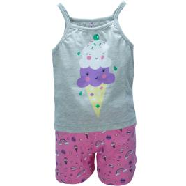Παιδική Πυτζάμα Dreams 98411 Μελανζέ Κορίτσι