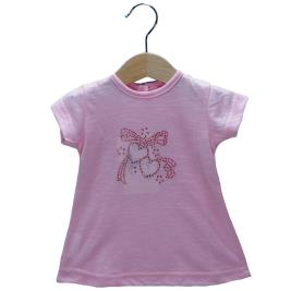Βρεφική Μπλούζα New College 29-8954 Ροζ Κορίτσι