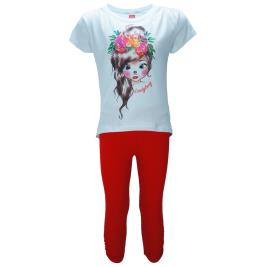 Παιδικό Σετ-Σύνολο Joyce 92308 Λευκό Κορίτσι
