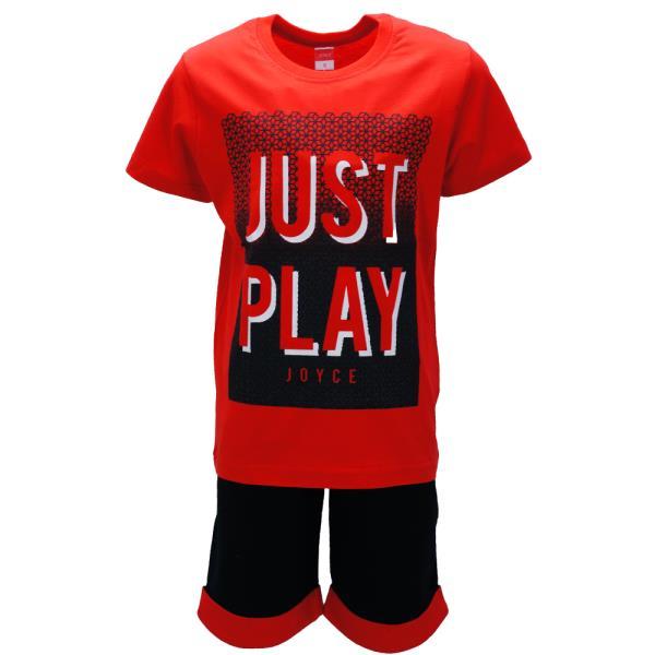 145c4e2ccd0 Παιδικό Σετ-Σύνολο Joyce 91704 Κόκκινο Αγόρι