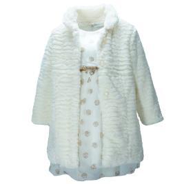 Παιδικό Φόρεμα Εβίτα 199208 Εκρού Κορίτσι