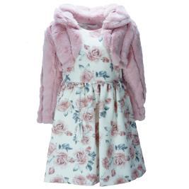 Παιδικό Φόρεμα Εβίτα 199005 Σομόν Φλοράλ Κορίτσι