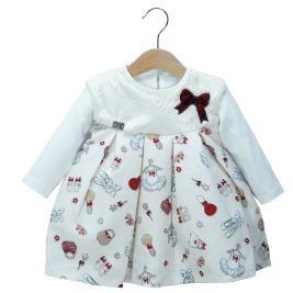 Βρεφικό Φόρεμα Εβίτα 199503 Εκρού Κορίτσι