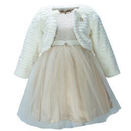 Παιδικό Φόρεμα Εβίτα 199206 Εκρού Κορίτσι