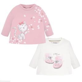 Βρεφικό Σετ Μπλούζες Mayoral 19-02001-087 Ροζ Κορίτσι