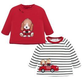 Βρεφικό Σετ Μπλούζες Mayoral 19-02003-033 Κόκκινο Αγόρι