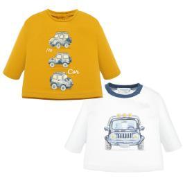 Βρεφικό Σετ Μπλούζες Mayoral 19-02003-032 Κίτρινο Αγόρι