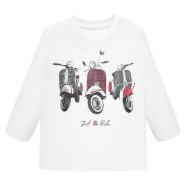 Βρεφική Μπλούζα Mayoral 19-02028-022 Λευκό Αγόρι