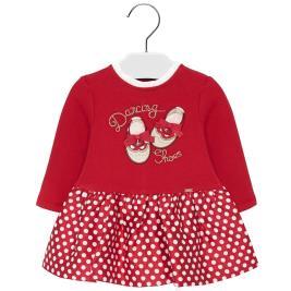 Βρεφικό Φόρεμα Mayoral 19-02919-017 Κόκκινο Κορίτσι