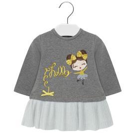 Βρεφικό Φόρεμα Mayoral 19-02930-045 Γκρι Κορίτσι