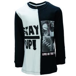 Παιδική Μπλούζα Hashtag 199788 Μαύρο Αγόρι