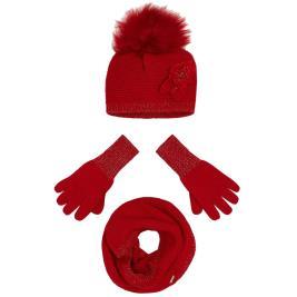 Παιδικό Σετ Σκούφος Κασκόλ Γάντια Mayoral 19-10699-028 Κόκκινο Κορίτσι
