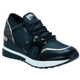 Γυναικείο Sneaker Renato Garini RG8211 Μαύρο Φίδι