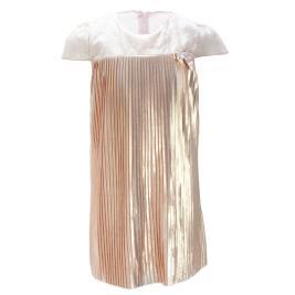Παιδικό Φόρεμα MB 9709 Μπεζ Χρυσό Κορίτσι