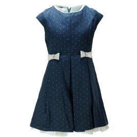 Παιδικό Φόρεμα MB 9811 Μπλε Χρυσό Κορίτσι