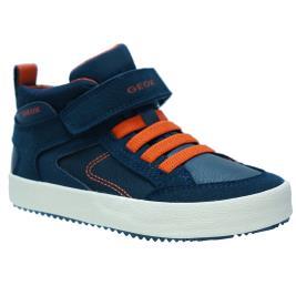 Παιδικό Μποτάκι Geox J942CN 0FUAU C4218.B Μπλε Πορτοκαλί