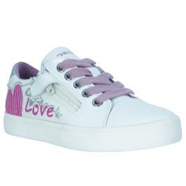 Παιδικό Sneaker Geox J024NB 01002 C0406.B Λευκό Ροζ