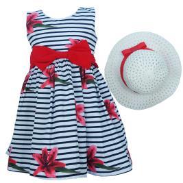 Παιδικό Φόρεμα Εβίτα 202202 Ριγέ Κορίτσι