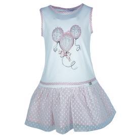 Παιδικό Φόρεμα Εβίτα 202248 Σομόν Κορίτσι