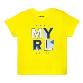 Βρεφική Μπλούζα Mayoral 20-00106-034 Κίτρινο Αγόρι