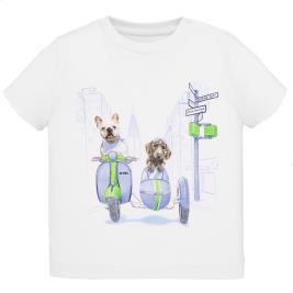 Βρεφική Μπλούζα Mayoral 20-01043-024 Λευκό Αγόρι