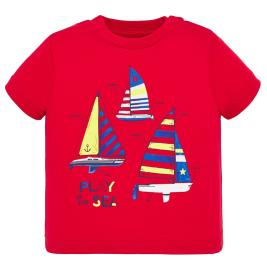 Βρεφική Μπλούζα Mayoral 20-01045-014 Κόκκινο Αγόρι