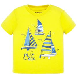 Βρεφική Μπλούζα Mayoral 20-01045-015 Κίτρινο Αγόρι