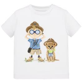 Βρεφική Μπλούζα Mayoral 20-01048-036 Λευκό Αγόρι