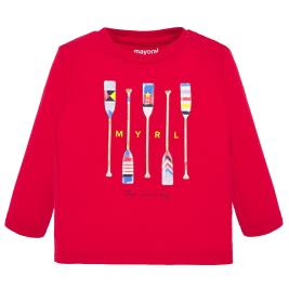 Βρεφική Μπλούζα Mayoral 20-01055-075 Κόκκινο Αγόρι