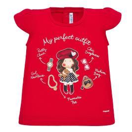 Βρεφική Μπλούζα Mayoral 20-01060-053 Κόκκινο Κορίτσι