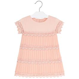 Παιδικό Φόρεμα Mayoral 20-03917-086 Ροδακινί Κορίτσι