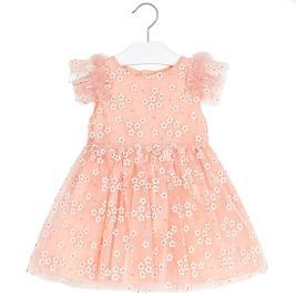Παιδικό Φόρεμα Mayoral 20-03916-082 Ροδακινί Κορίτσι