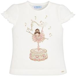 Παιδική Μπλούζα Mayoral 20-03001-066 Εκρού Κορίτσι