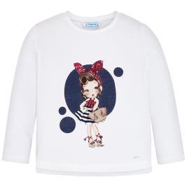 Παιδική Μπλούζα Mayoral 20-03021-079 Λευκό Κορίτσι