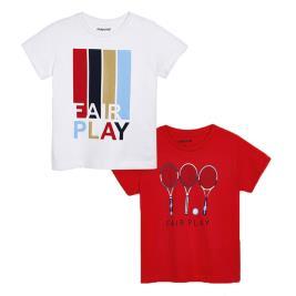 Παιδικό Σετ Μπλούζες Mayoral 20-03054-043 Κόκκινο Αγόρι