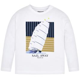 Παιδική Μπλούζα Mayoral 20-03075-014 Λευκό Αγόρι