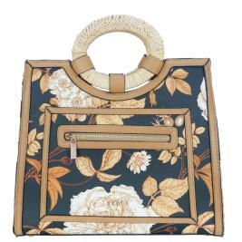 Γυναικεία Τσάντα Verde 16-0005421 Μαύρο Φλοράλ