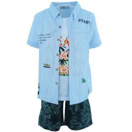 Παιδικό Σετ-Σύνολο Hashtag 202741 Γαλάζιο Ριγέ Αγόρι
