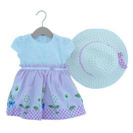 Βρεφικό Φόρεμα Εβίτα 202504 Λευκό Ροζ Κορίτσι