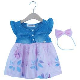 Βρεφικό Φόρεμα Εβίτα 202533 Ροζ Τζιν Κορίτσι