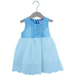 Βρεφικό Φόρεμα Εβίτα 202534 Λευκό Τζιν Κορίτσι