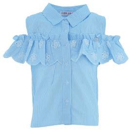 Παιδικό Πουκάμισο Εβίτα 202036 Ριγέ Γαλάζιο Κορίτσι