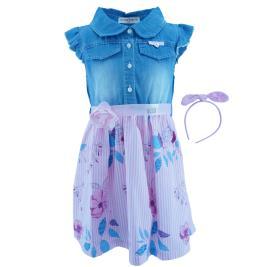 Παιδικό Φόρεμα Εβίτα 202283 Denim Ροζ Κορίτσι