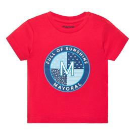 Βρεφική Μπλούζα Mayoral 20-01041-018 Κόκκινο Αγόρι
