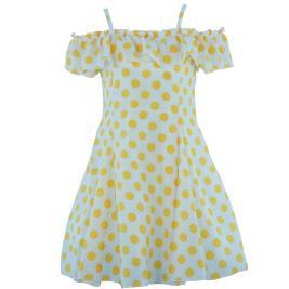 Παιδικό Φόρεμα MB 10128 Κίτρινο Κορίτσι