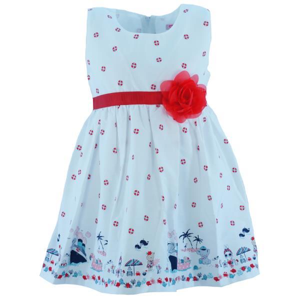 Παιδικό Φόρεμα New College 20-769 Λευκό Κορίτσι